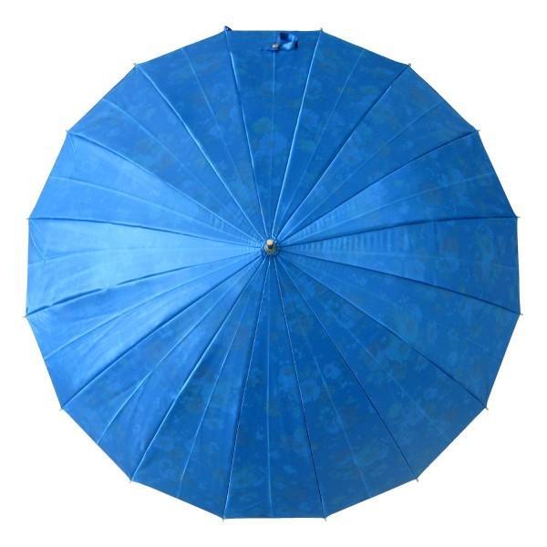 アルファベットで名入可能 傘 レディース 高級感のあるサテン生地に花柄プリント 16本骨 60cm ジャンプ傘 無料包装 母の日 誕生日カード付 送料無料 okamoto-kasa 15