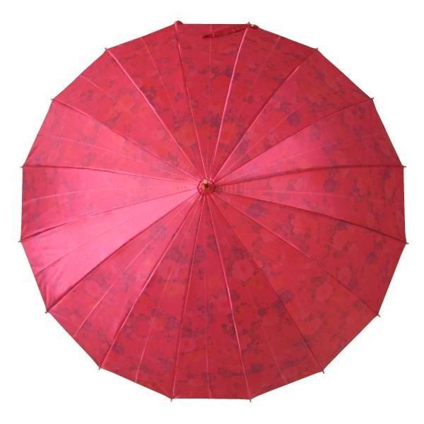 アルファベットで名入可能 傘 レディース 高級感のあるサテン生地に花柄プリント 16本骨 60cm ジャンプ傘 無料包装 母の日 誕生日カード付 送料無料 okamoto-kasa 05