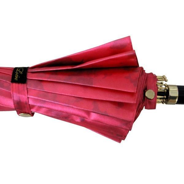 アルファベットで名入可能 傘 レディース 高級感のあるサテン生地に花柄プリント 16本骨 60cm ジャンプ傘 無料包装 母の日 誕生日カード付 送料無料 okamoto-kasa 06