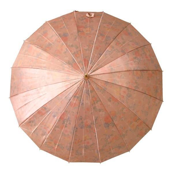 アルファベットで名入可能 傘 レディース 高級感のあるサテン生地に花柄プリント 16本骨 60cm ジャンプ傘 無料包装 母の日 誕生日カード付 送料無料 okamoto-kasa 10