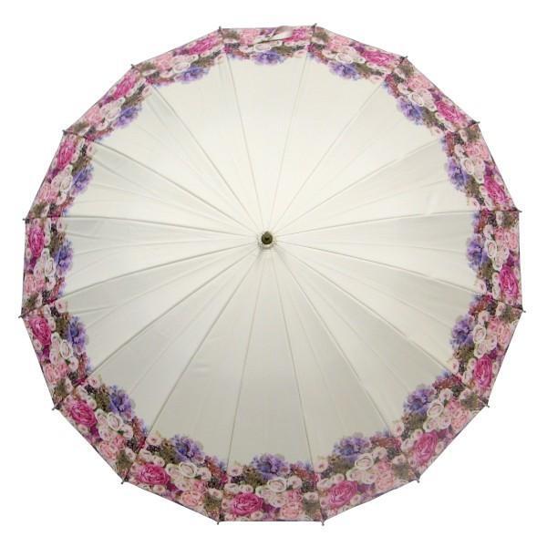 日傘 レディース 2本 晴雨兼用傘 紫外線99%以上カット 遮光率 99% 傘内の温度上昇を約2/3に軽減 グラスファイバー骨 55cm 16本骨 手開き式 送料無料|okamoto-kasa|03