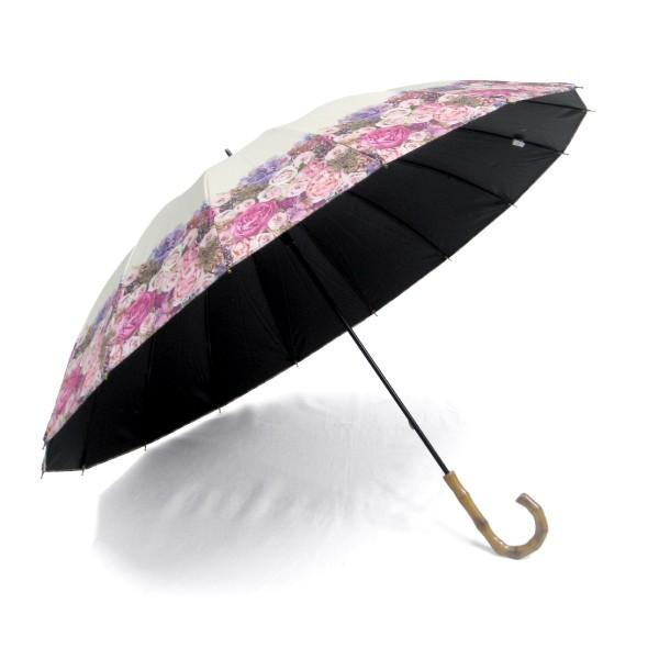 日傘 レディース 2本 晴雨兼用傘 紫外線99%以上カット 遮光率 99% 傘内の温度上昇を約2/3に軽減 グラスファイバー骨 55cm 16本骨 手開き式 送料無料|okamoto-kasa|04