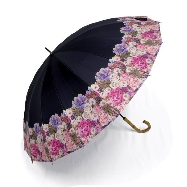 日傘 レディース 2本 晴雨兼用傘 紫外線99%以上カット 遮光率 99% 傘内の温度上昇を約2/3に軽減 グラスファイバー骨 55cm 16本骨 手開き式 送料無料|okamoto-kasa|06