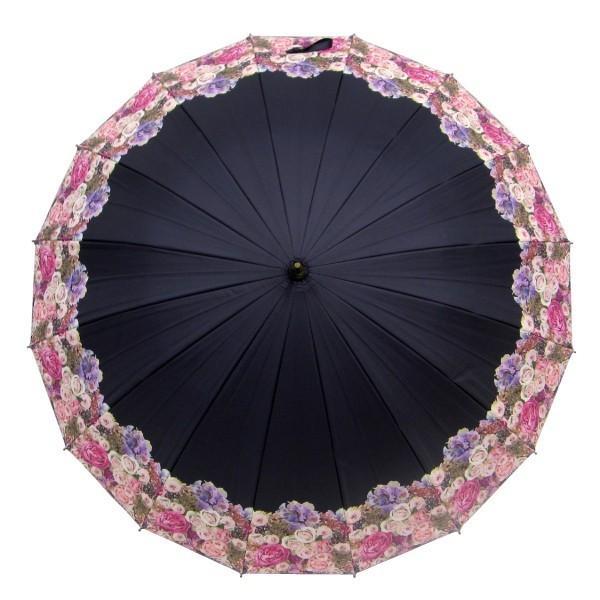 日傘 レディース 2本 晴雨兼用傘 紫外線99%以上カット 遮光率 99% 傘内の温度上昇を約2/3に軽減 グラスファイバー骨 55cm 16本骨 手開き式 送料無料|okamoto-kasa|07
