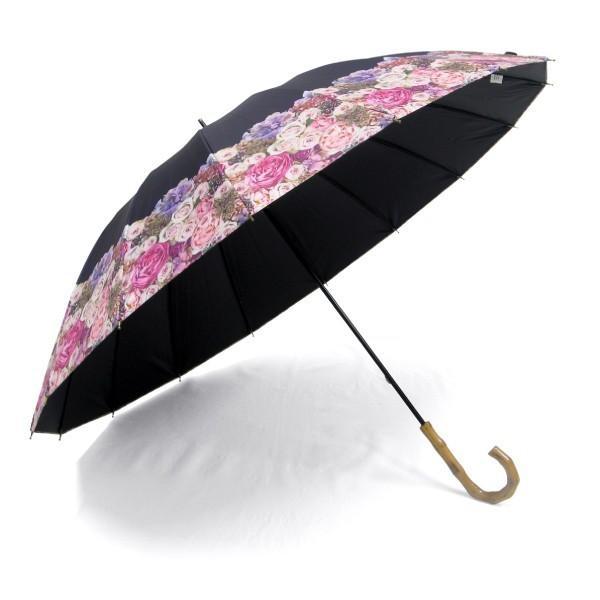 日傘 レディース 2本 晴雨兼用傘 紫外線99%以上カット 遮光率 99% 傘内の温度上昇を約2/3に軽減 グラスファイバー骨 55cm 16本骨 手開き式 送料無料|okamoto-kasa|08