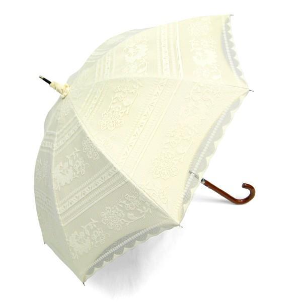 完全遮光 日傘 遮光率100% UV遮蔽率99.99% 傘本体 遮光率99.99% レディース 1級遮光 紫外線カット パゴダ サラサボーダー柄 レース二重張 50cm 手開 送料無料|okamoto-kasa|18