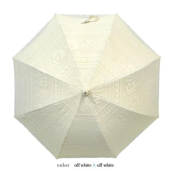 完全遮光 日傘 遮光率100% UV遮蔽率99.99% 傘本体 遮光率99.99% レディース 1級遮光 紫外線カット パゴダ サラサボーダー柄 レース二重張 50cm 手開 送料無料|okamoto-kasa|08
