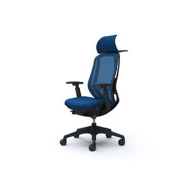 オカムラ オフィスチェア シルフィー 可動肘・背メッシュ・EXハイ・ブラックボディ・ハンガー・ランバーサポート付・樹脂脚 送料込み