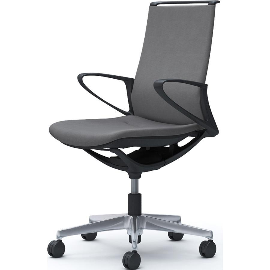 オカムラ オフィスチェア mode モードチェア 5本脚 背クッション ミドルバック デザインアーム ブラックフレーム ミックス CA25BR 【送料無料】