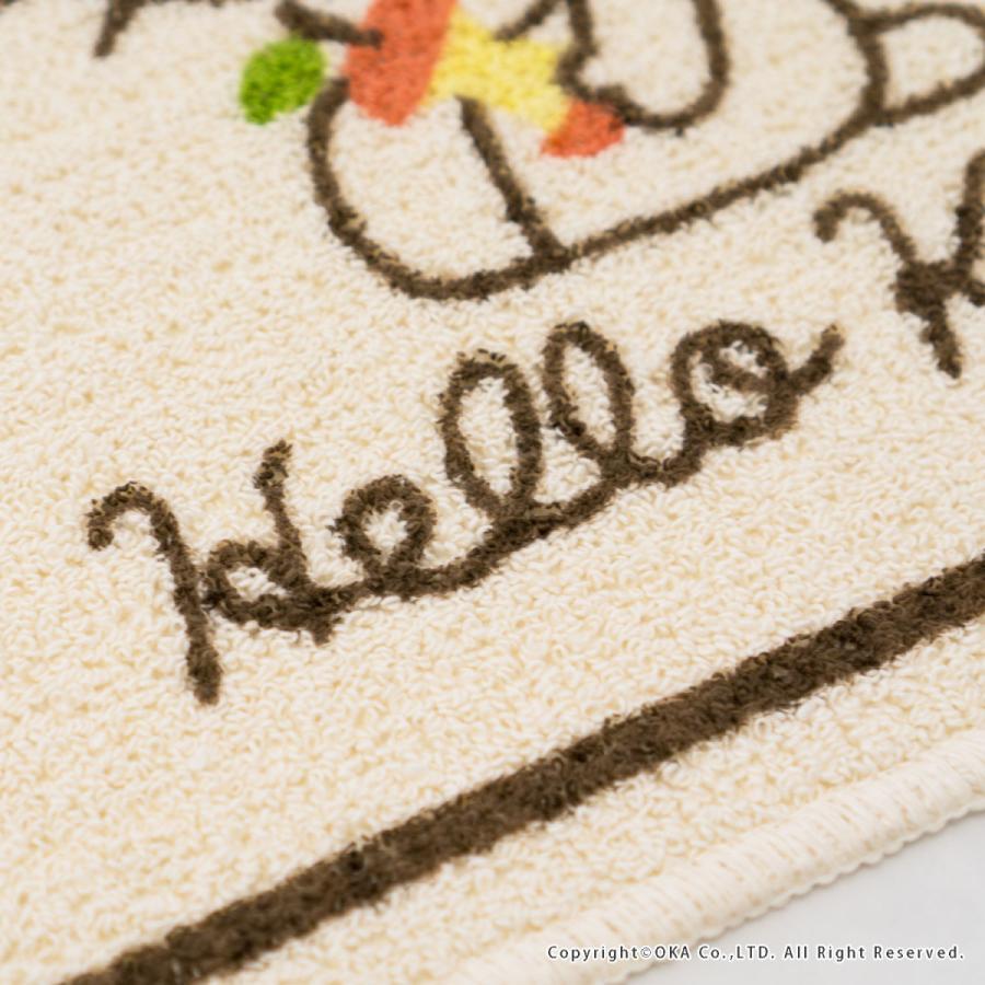 洗えるマット ハローキティ ころころりんご 約45cm×60cm  (サンリオ キティちゃん キティ かわいい フリーマット 日本製)  オカ|okapro|08