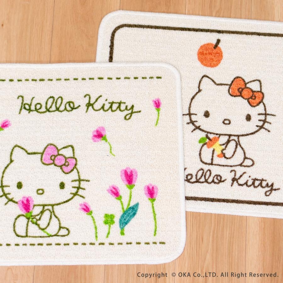 洗えるマット ハローキティ ころころりんご 約45cm×60cm  (サンリオ キティちゃん キティ かわいい フリーマット 日本製)  オカ|okapro|10