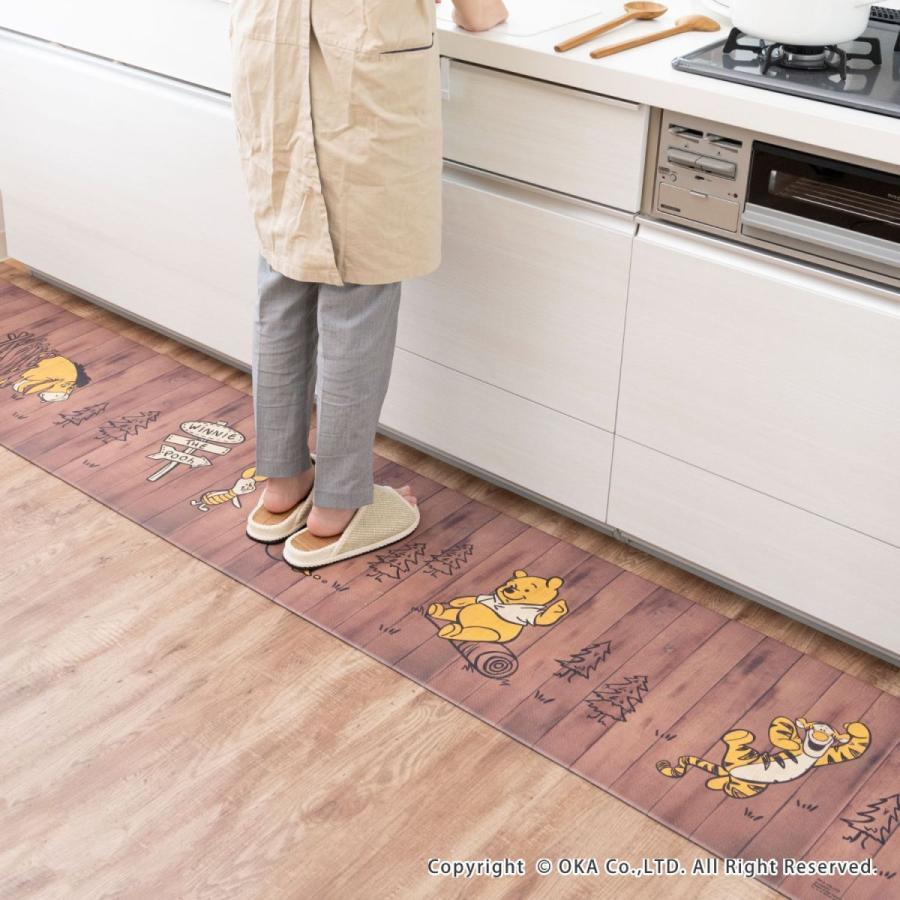 キッチンマット ディズニー 45×120cm 拭いてお手入れ(拭ける ふける ミッキーマウス プーさん トイストーリー ミニーマウス) オカ|okapro|12