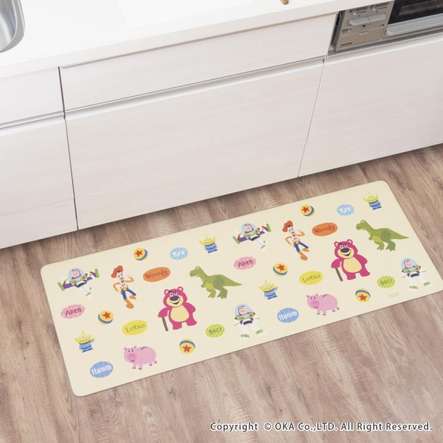 キッチンマット ディズニー 45×120cm 拭いてお手入れ(拭ける ふける ミッキーマウス プーさん トイストーリー ミニーマウス) オカ|okapro|08