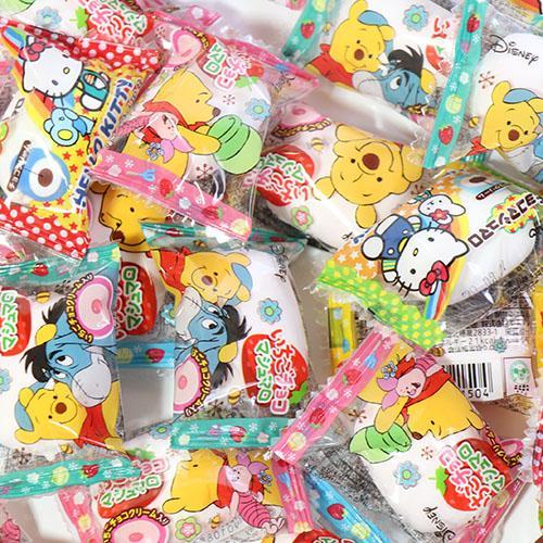(全国送料無料) エイワ ハローキティチョコマシュマロ(32コ) & くまのプーさん いちごチョコマシュマロ(32コ)セット メール便 (omtmb6119) okashinomarch
