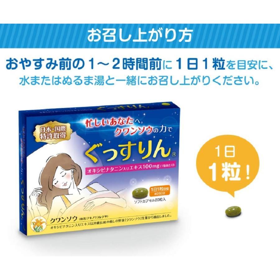休息 サプリ [ぐっすりん] 睡眠薬 睡眠 導入剤 ではない 天然 植物 サプリメント 3粒 [送料無料 軽減税率] okinawasakata 19