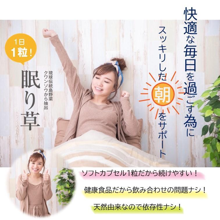 睡眠 休息 サプリ [眠り草] 睡眠薬 睡眠 導入剤 ではない 天然 植物 サプリメント 30粒/1か月分 送料無料 軽減税率] okinawasakata 02