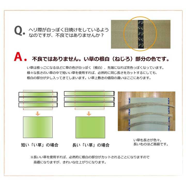純国産 い草 上敷き カーペット 糸引織 『湯沢』 団地間2畳(約170×170cm) okitatami 13