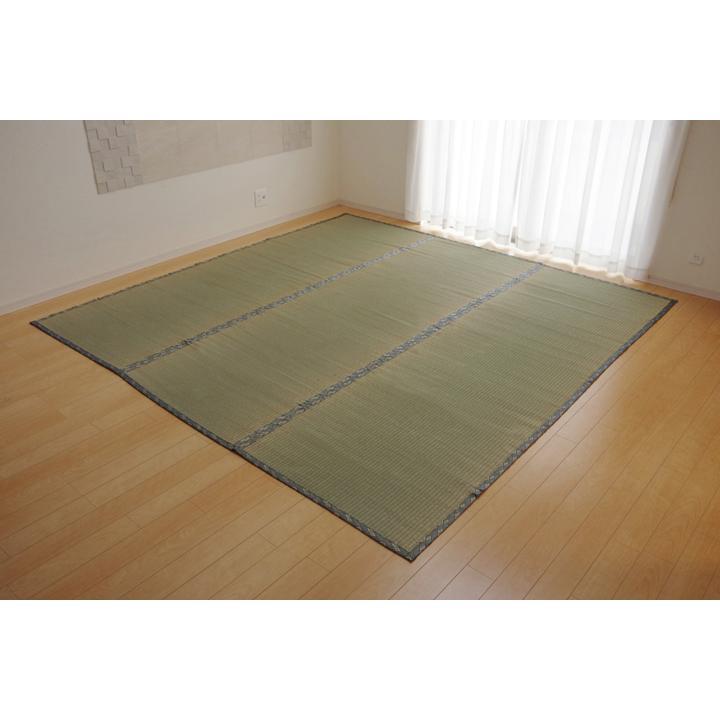 純国産 い草 上敷き カーペット 糸引織 『湯沢』 団地間2畳(約170×170cm) okitatami 05