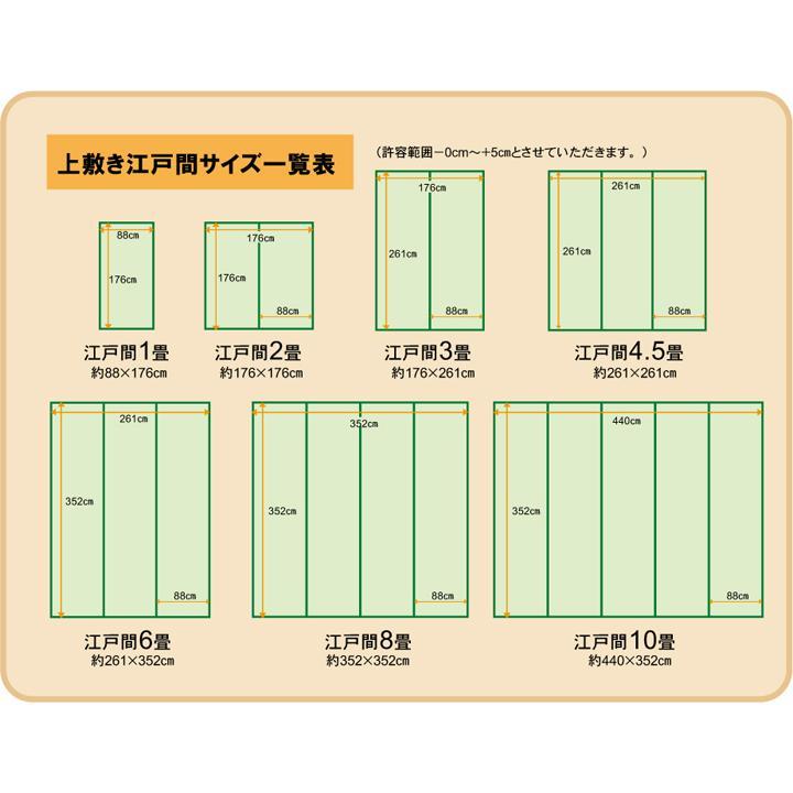 純国産 い草 上敷き カーペット 糸引織 『湯沢』 団地間4.5畳(約255×255cm) okitatami 13