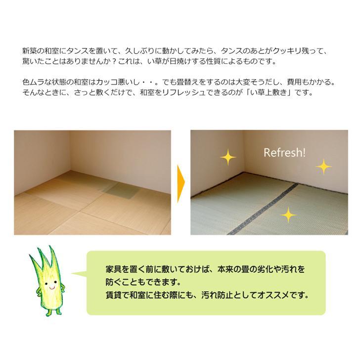 純国産 い草 上敷き カーペット 糸引織 『湯沢』 団地間4.5畳(約255×255cm) okitatami 08