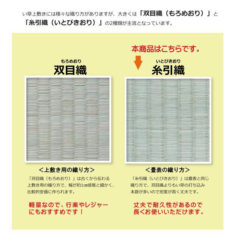 畳上敷き 国産 い草 カーペット 8畳 国産 糸引織 湯沢 団地間8畳 約340×340cm|okitatami|10