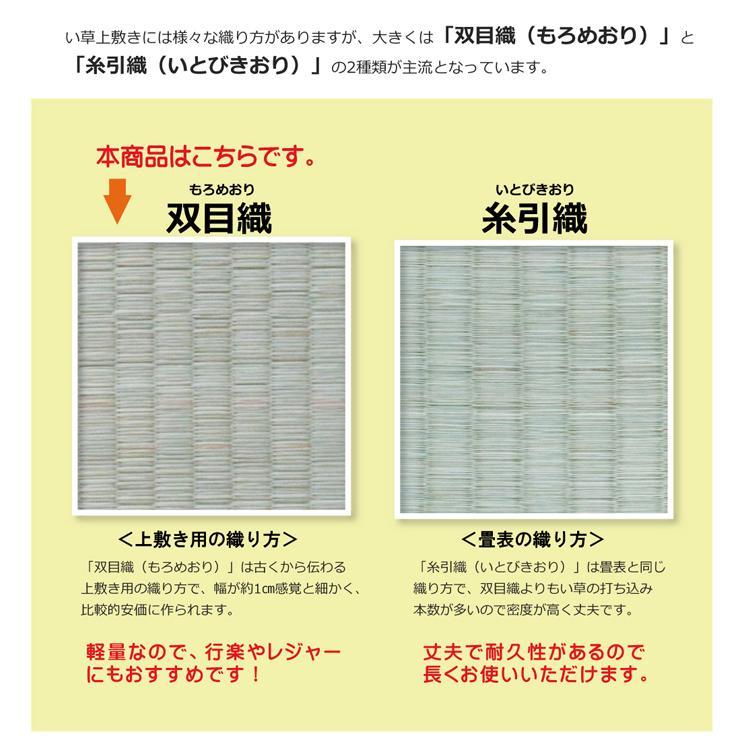 松 団地間2畳 約170×170cm 国産 い草 カーペット 双目織   畳上敷き okitatami 09