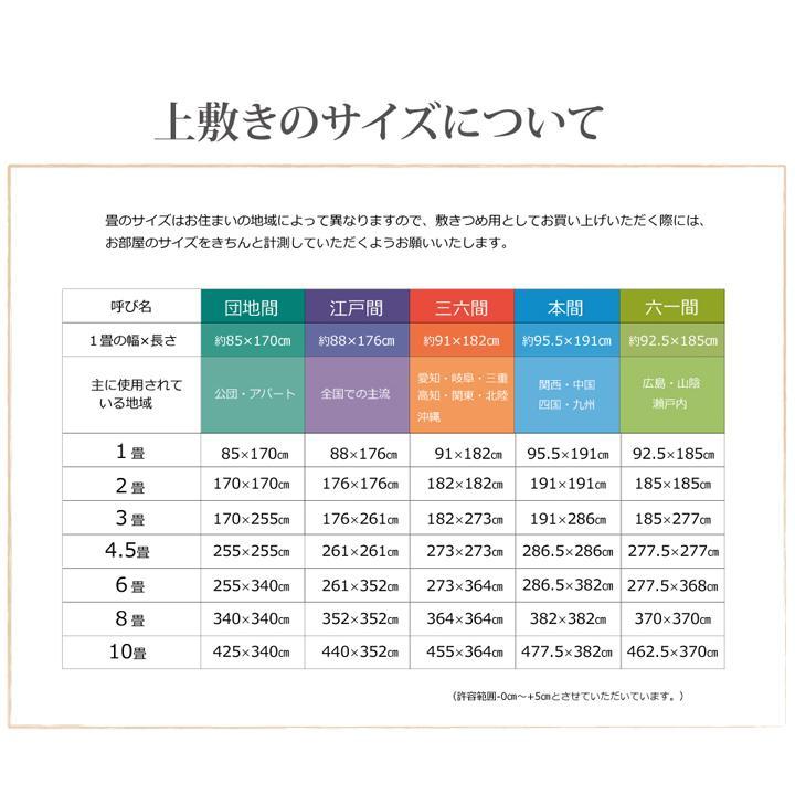 畳上敷き 国産 い草 カーペット 8畳 国産 双目織 松 団地間8畳 約340×340cm|okitatami|17