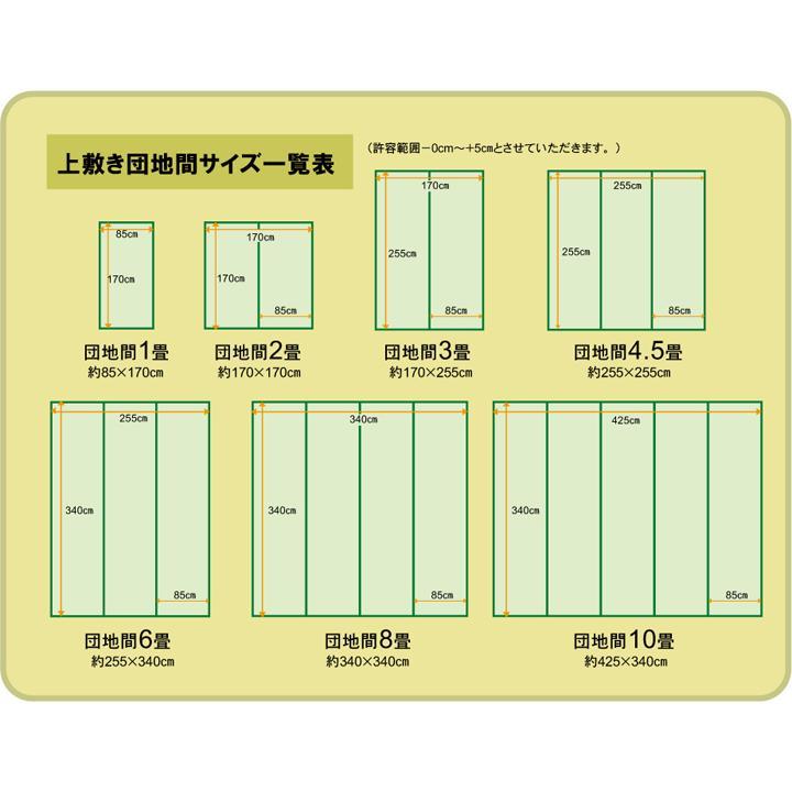 畳上敷き 国産 い草 カーペット 8畳 国産 双目織 松 団地間8畳 約340×340cm|okitatami|18