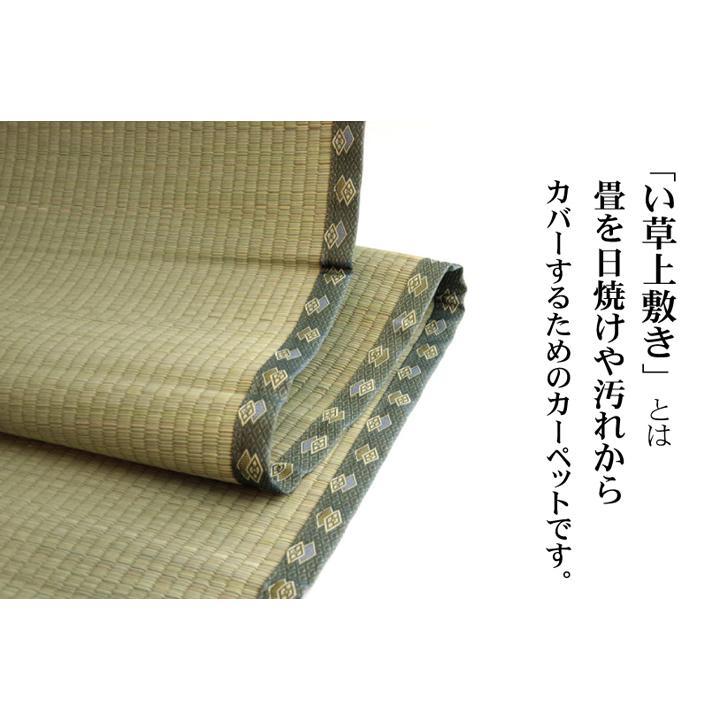 畳上敷き 国産 い草 カーペット 8畳 国産 双目織 松 団地間8畳 約340×340cm|okitatami|04