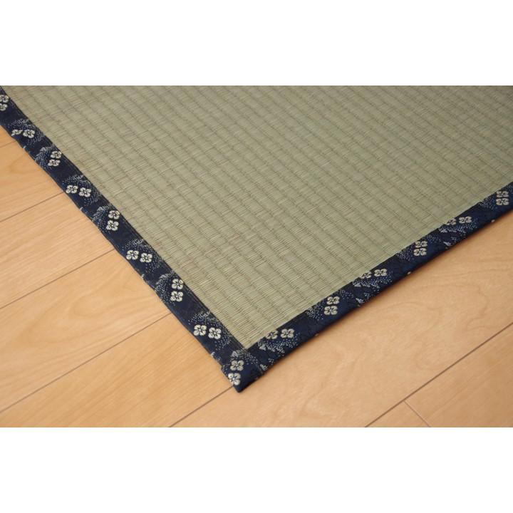 い草 上敷き カーペット 6畳 国産 糸引織 梅花 本間6畳 約286×382cm|okitatami