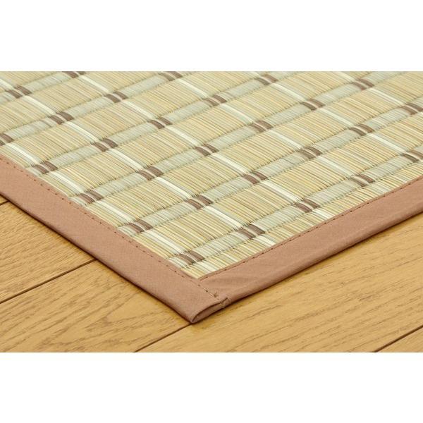い草 ラグカーペット 2畳 掛川織 豊後 ベージュ 江戸間2畳 約174×174cm|okitatami