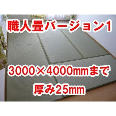 オーダーサイズ 職人畳バージョン1  置き畳 へりつき 6枚 3000×4000mmまで 厚み25mm okitatami