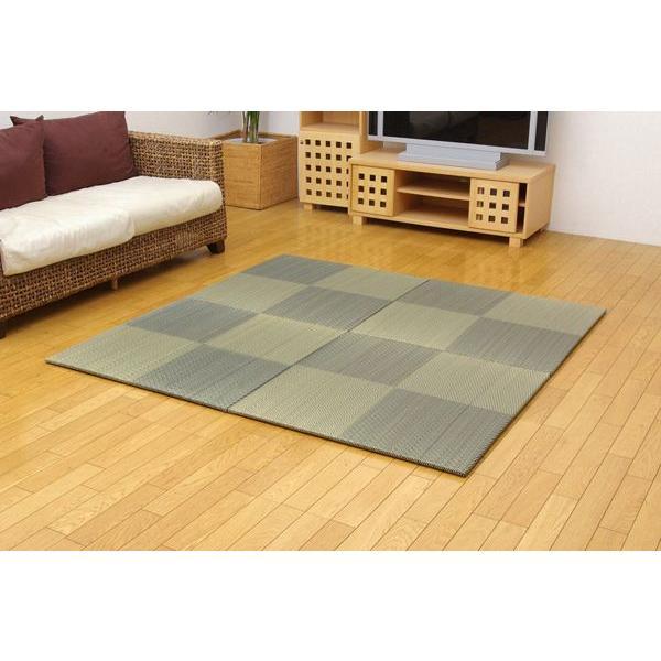 畳 国産 ユニット畳 シンプルノア ブルー 82×82×1.7cm 4枚1セット 軽量タイプ|okitatami