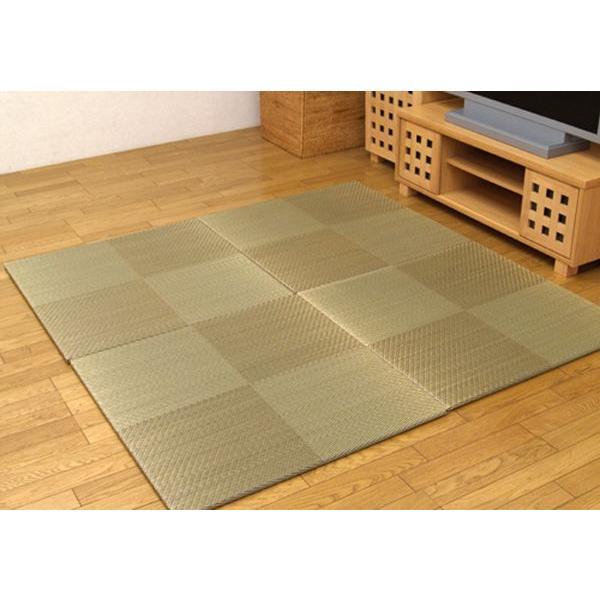 畳 国産 ユニット畳 シンプルノア ブラウン 82×82×1.7cm 9枚1セット 軽量タイプ|okitatami