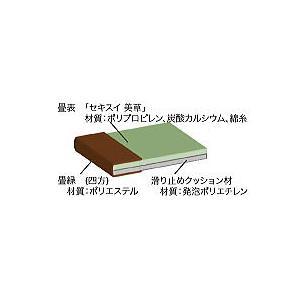 ロール畳 い草風 セキスイロール畳 900mm×4m へりつき  引き目タイプグリーン okitatami 04
