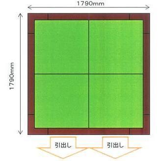 畳収納ユニット 小上がり 高床式ユニット畳 畳が丘 2畳アイランド  パナソニック 3 ハッチ+引出し  パナソニック okitatami