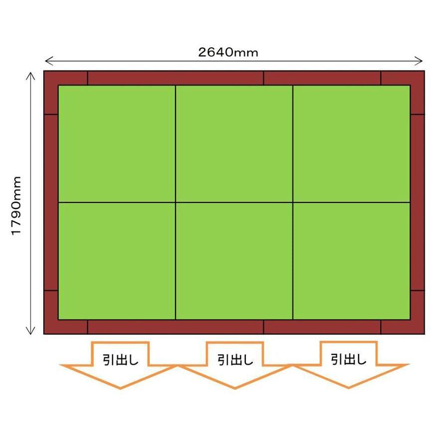 畳収納ユニット 小上がり 高床式ユニット畳 畳が丘 3畳アイランド  パナソニック 3 ハッチ・引出し  パナソニック okitatami