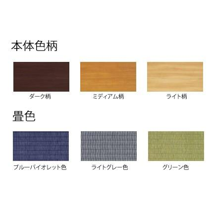 畳収納ユニット 小上がり 高床式ユニット畳 畳が丘 プランNO.10 2畳 二方壁納まり  パナソニック|okitatami|02
