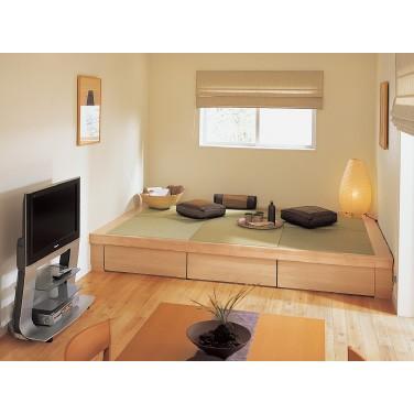 畳収納ユニット 小上がり 高床式ユニット畳 畳が丘 プランNO.10 2畳 二方壁納まり  パナソニック|okitatami|04