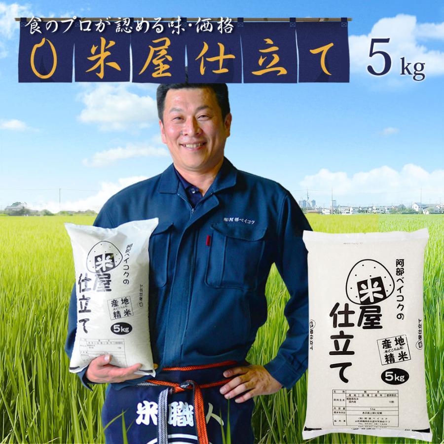 米 5kg 送料無 安い 米屋仕立て 5kg×1袋 送料無料 (一部地域を除く) 国内産 ブレンド米 お米 白米 精米|okomeabe
