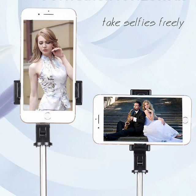 ワンピースK10 bluetooth selfieスティック付属三脚ユニバーサルhandphoneライブミニ写真撮影便利な製品マルチ機能|okuda-store|02
