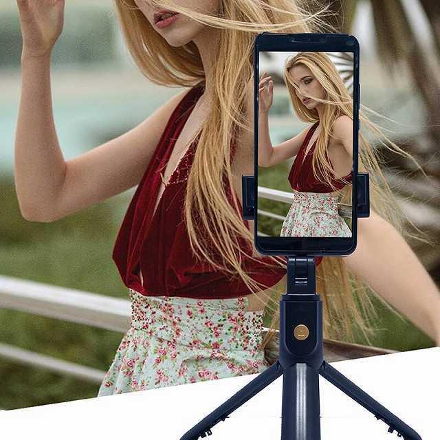 ワンピースK10 bluetooth selfieスティック付属三脚ユニバーサルhandphoneライブミニ写真撮影便利な製品マルチ機能|okuda-store|03