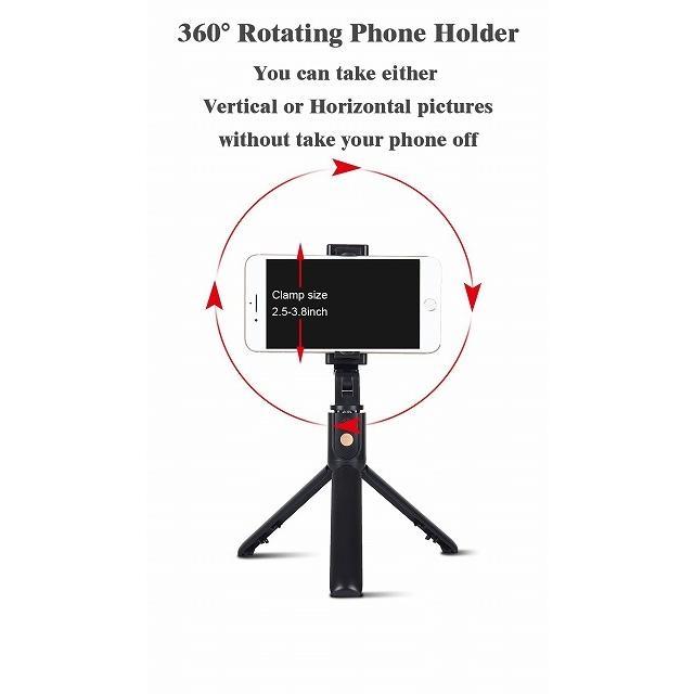 ワンピースK10 bluetooth selfieスティック付属三脚ユニバーサルhandphoneライブミニ写真撮影便利な製品マルチ機能|okuda-store|05