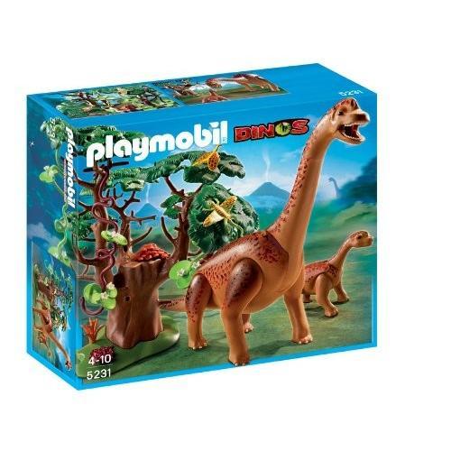 並行輸入品 プレイモービル ブラキオサウルスの親子 5231
