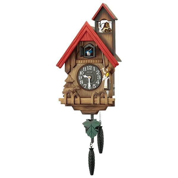 リズム時計 クロック 4MJ732RH06 鳩時計 カッコーチロリアンR
