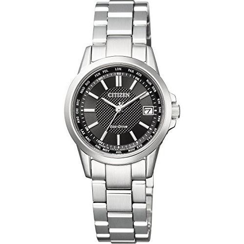 [シチズン]CITIZEN 腕時計 エコ·ドライブ電波 ダイレクトフライト 針表示式 ペアモデル EC1130-55E レディース