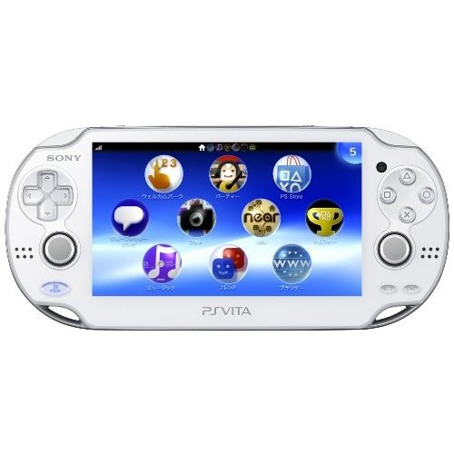 PlayStation Vita (プレイステーション ヴィータ) Wi‐Fiモデル クリスタル・ホワイト (PCH-1000 ZA02)【メーカー生産終了】 中古