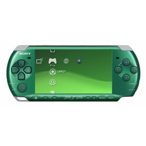 PSP「プレイステーション・ポータブル」 スピリティッド・グリーン (PSP-3000SG) 【メーカー生産終了】 中古
