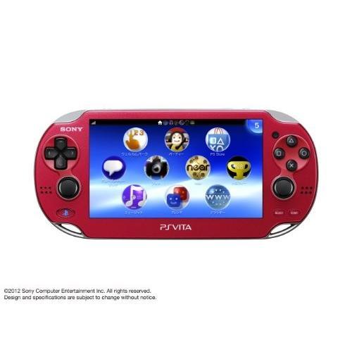 PlayStationVita Wi-Fiモデル コズミック・レッド (PCH-1000 ZA03) 【メーカー生産終了】 中古
