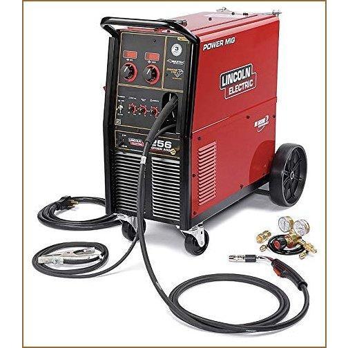 Lincoln Electric Power MIG 256 Flux-Cored/MIG Welder with Cart - Transformer, 230V, 30-300 Amp Output, Model NumberK3068-1【並行輸入品